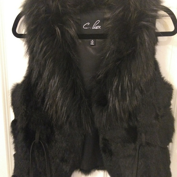 C. Luce Jackets & Blazers - Real fur vest